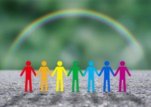 虹と手をつなぐ