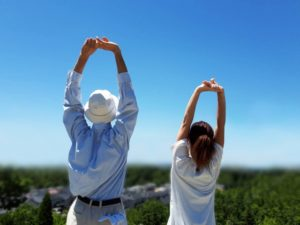 高齢男性と運動